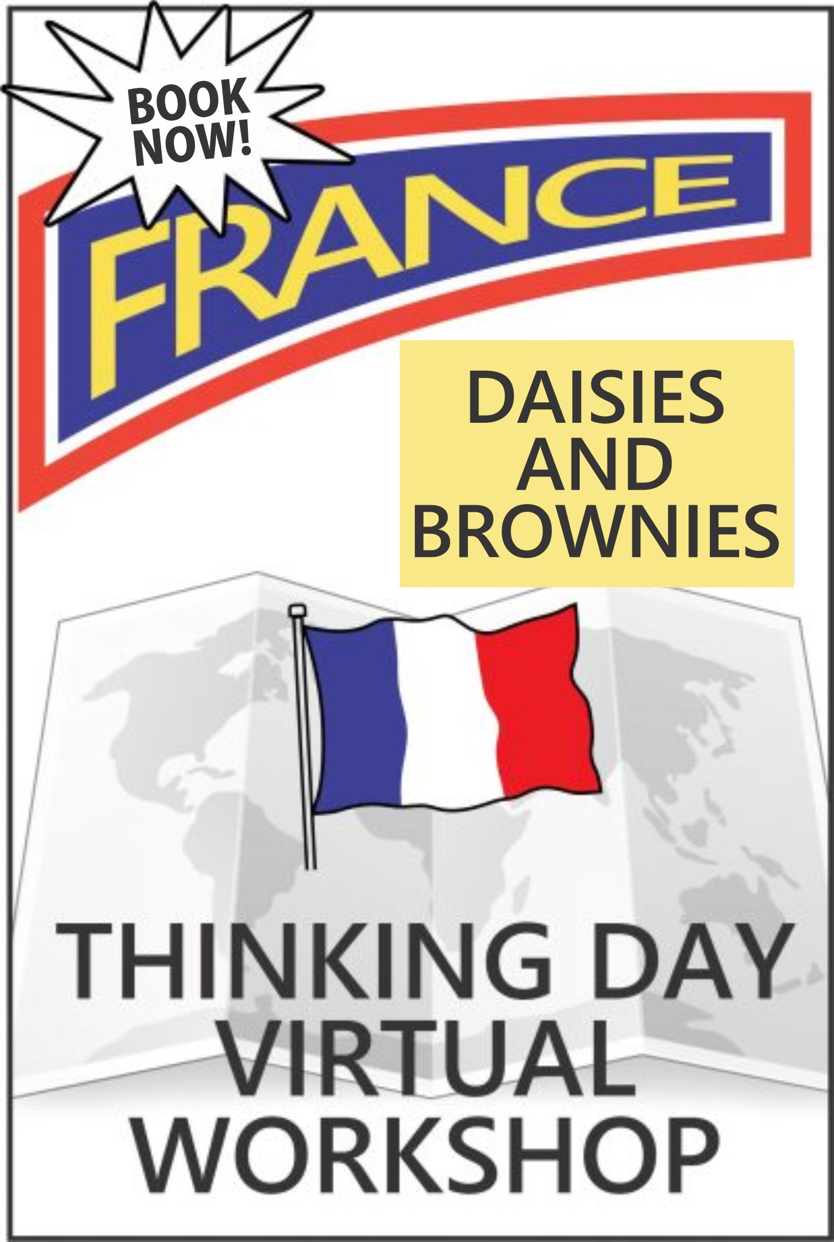 Explore French traditions, food, clothing, customs, and more! Includes supplies and patch. #makingfriends #virtualworkshop #france #thinkingday #girlscouts #traditions #daisies #brownies #workshop #onlineclass via @gsleader411