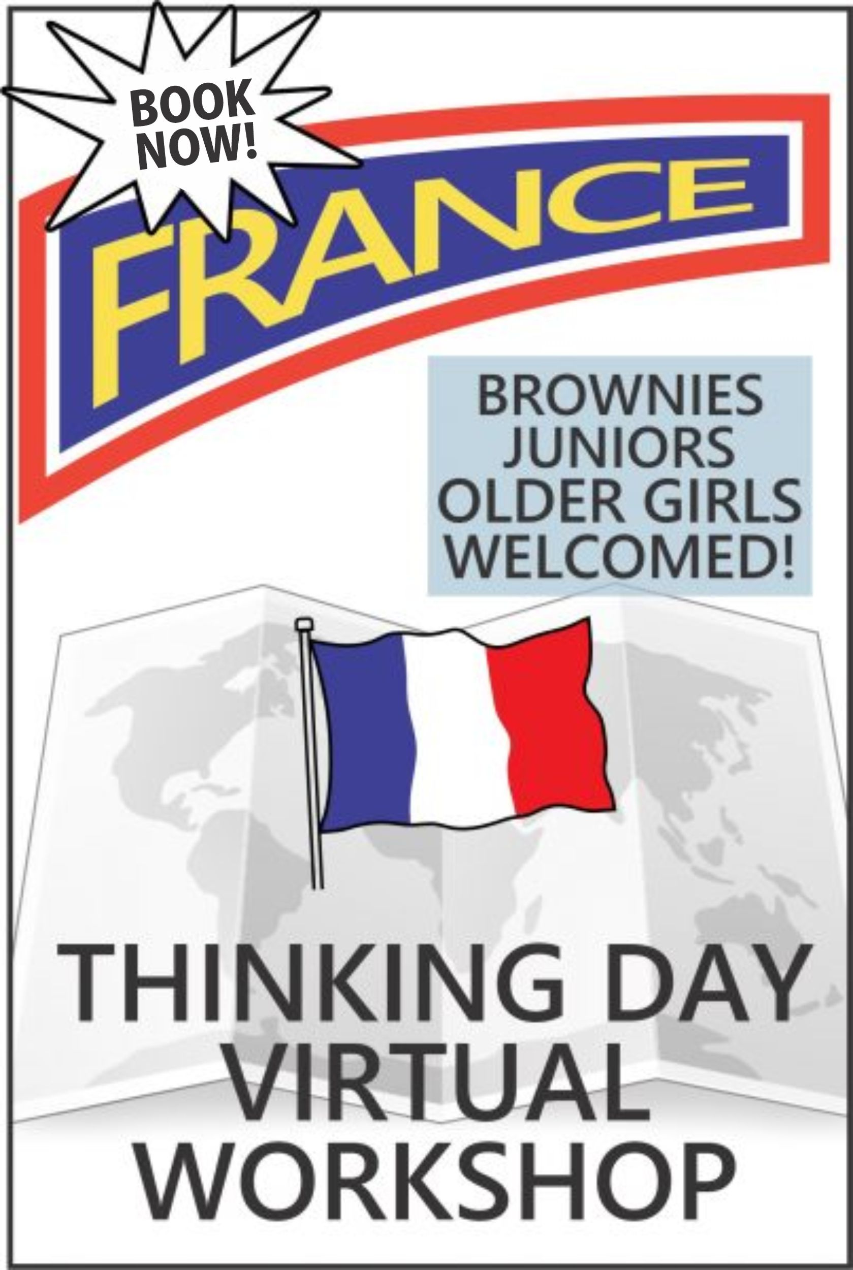 Explore French traditions, food, clothing, customs, and more in this 1-hour virtual workshop. The price includes supplies and an embroidered patch. #france #makingfriends #french #onlineworkshop #virtualworkshop #thinkingday #funpatch #francepatch via @gsleader411