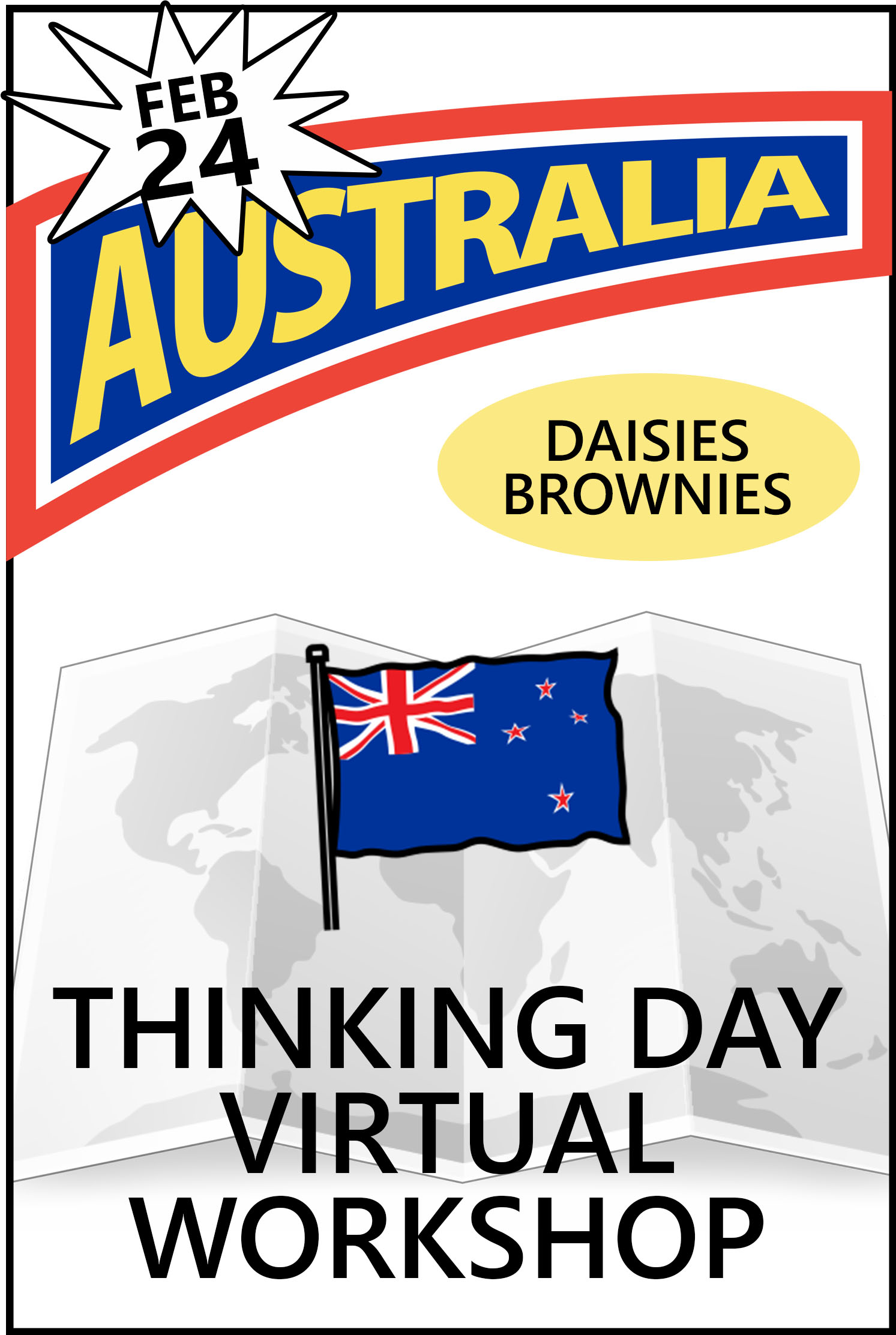 Explore Australian traditions, food, clothing, customs, and more! The price includes the workshop and supplies! #makingfriends #thinkingday #australia #virtualworkshop #thinkingdayaustralia #virtual #onlineclass #gsthinkingday #girlscouts #gstradition via @gsleader411