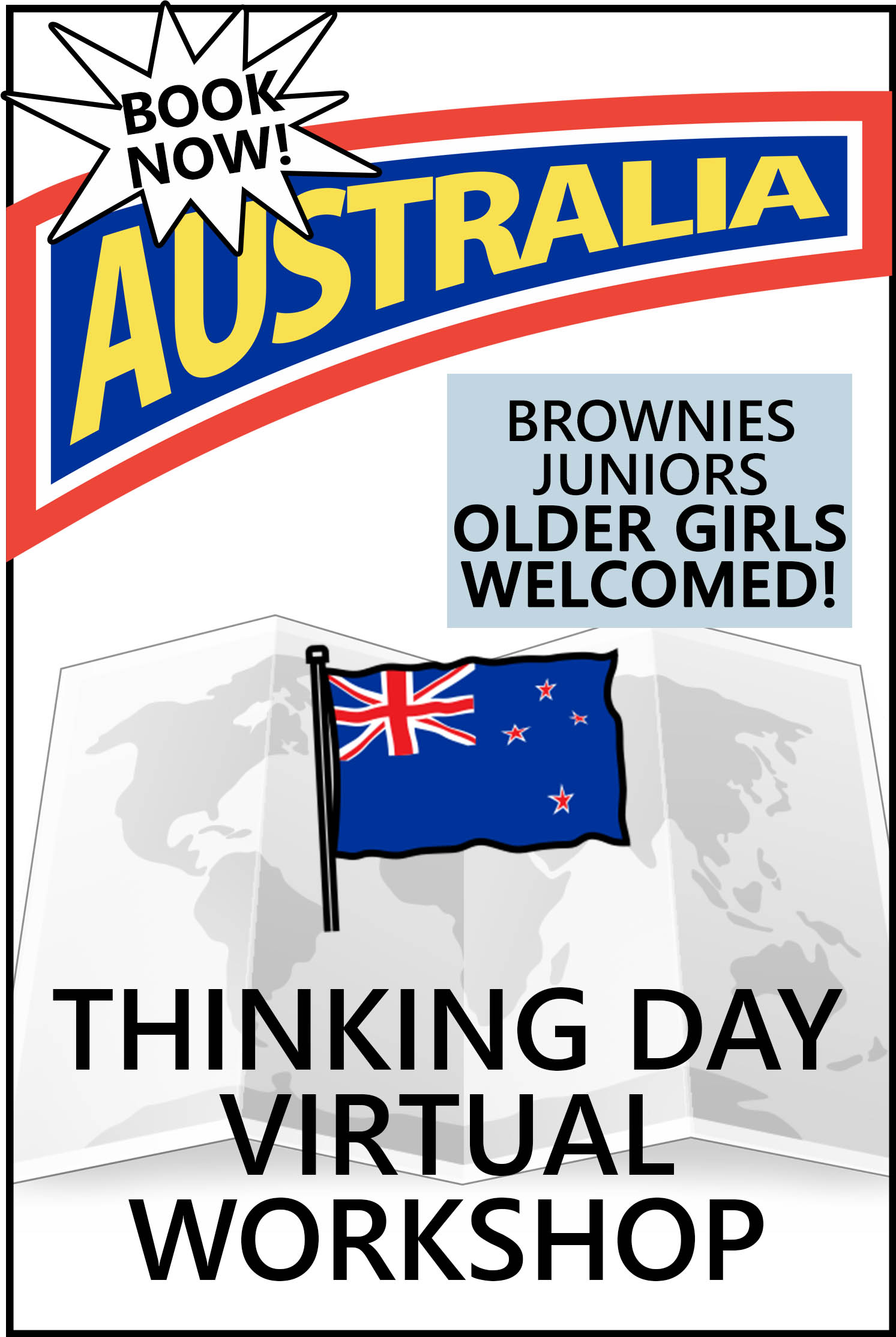 Explore Australian traditions, food, clothing, customs, and more! The price includes the workshop and supplies! #makingfriends #thinkingday #australia #girlscouts #gsthinkingday #virtualthinkingday #onlineclass #virtualworkshop via @gsleader411