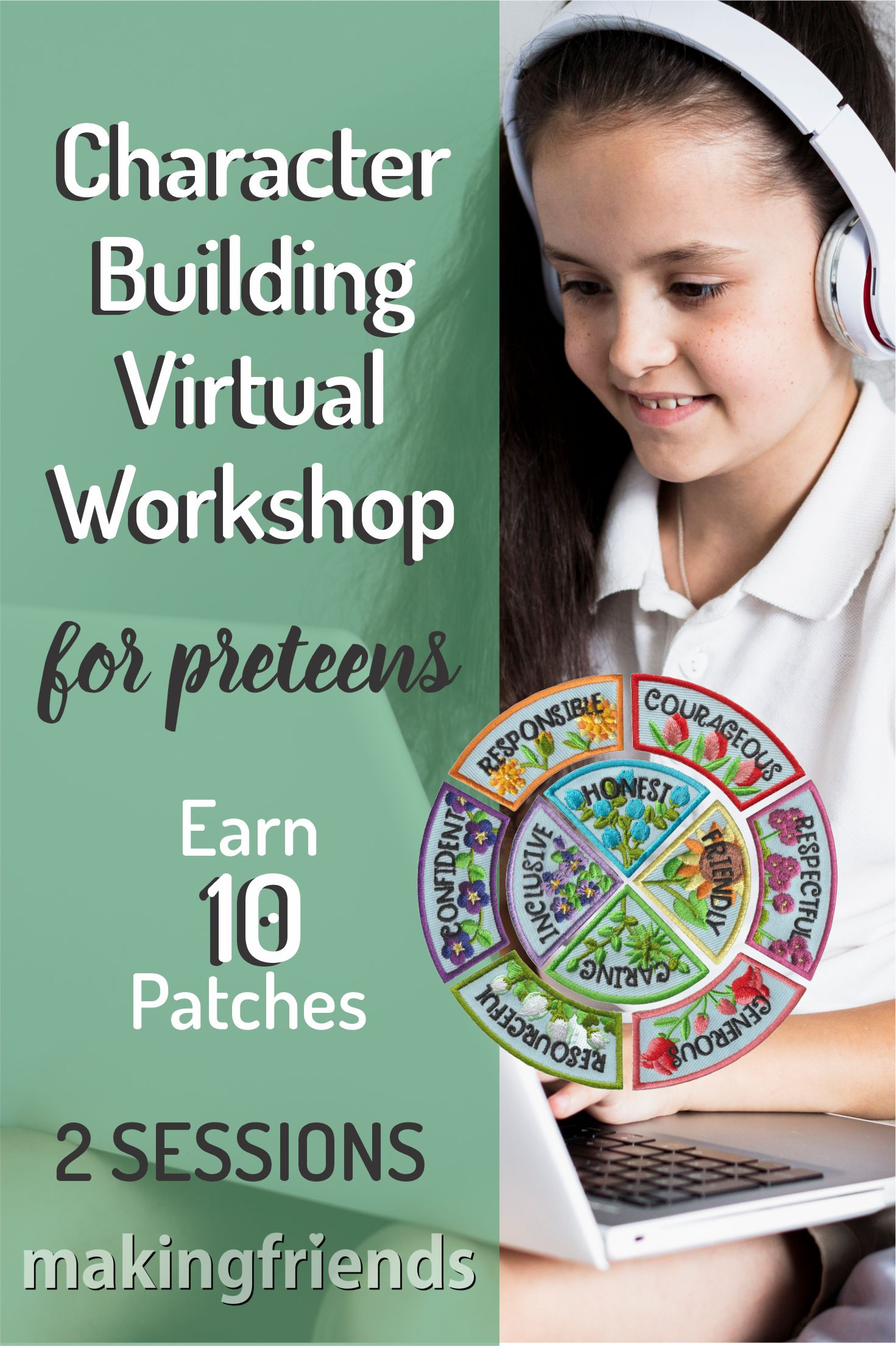 Join us for two, 1-hour virtual workshops, where Preteens revisit the Girl Scout law with contemporary topics worthy of discussion! Supplies and patches included!#girlscouts #onlineclass #virtualclass #characterbuilding #girlscoutjourney #tweens #onlineworkshop #gs #girlscouts via @gsleader411