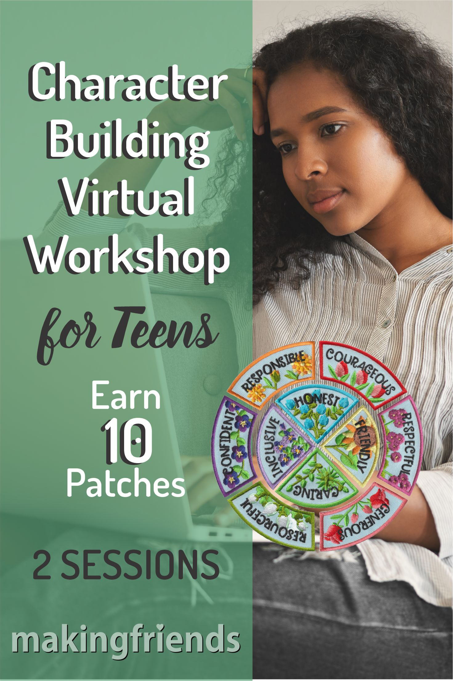 One hour workshop, where Teens revisit the Girl Scout law with contemporary topics that are engaging for them! Optional supplies are available! #girlscouts #onlineclass #virtualclass #characterbuilding #teenworkshop #onlineworkshop #gs #patches #character #lifeskills via @gsleader411