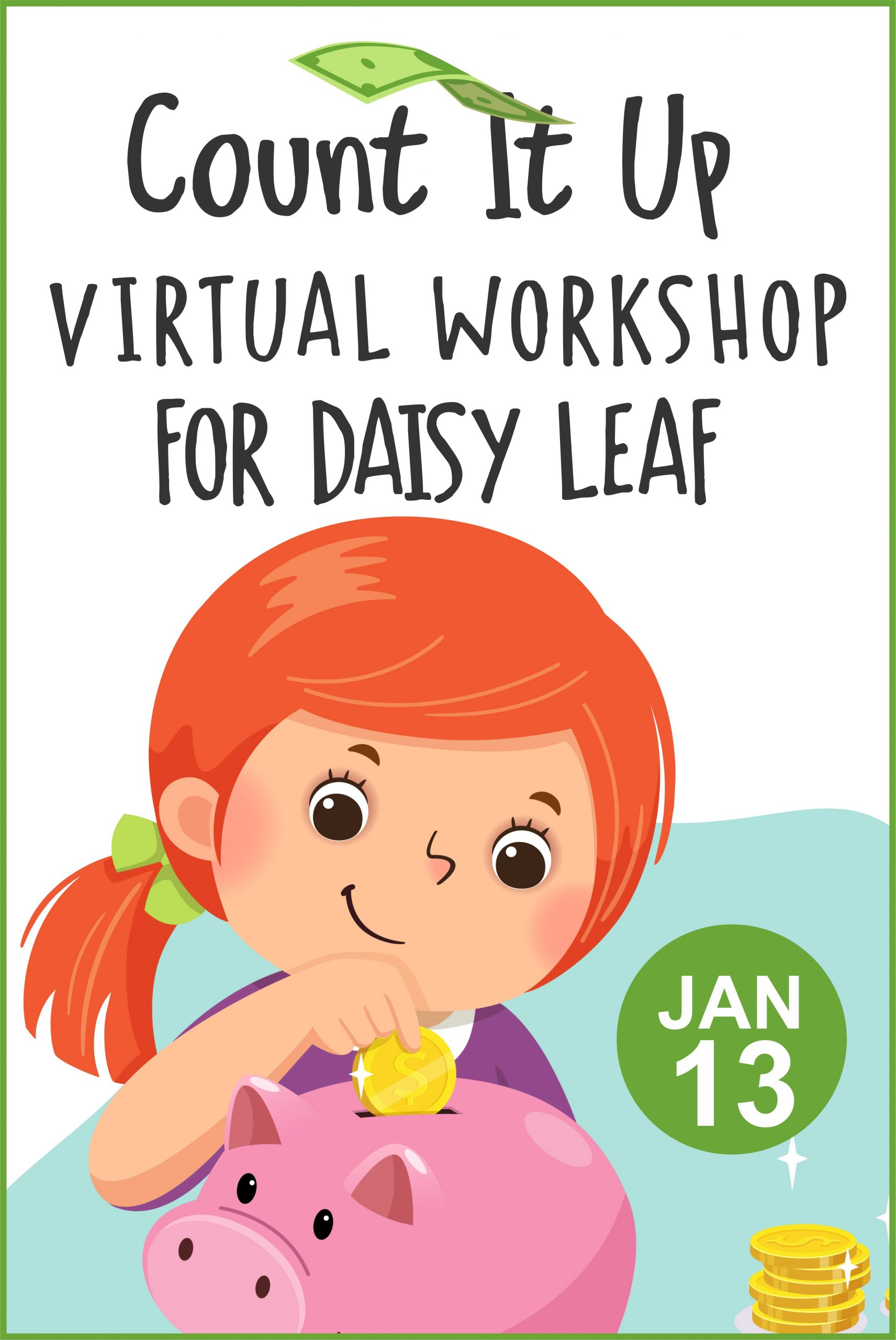 Daisies get ready to sell cookies with our virtual Count it Up workshop! #makingfriends #virtualclass #gsdaisies #virtualworkshop #onlineworkshop #daisy #girlscouts #gsonline #gscookies #cookieseason via @gsleader411