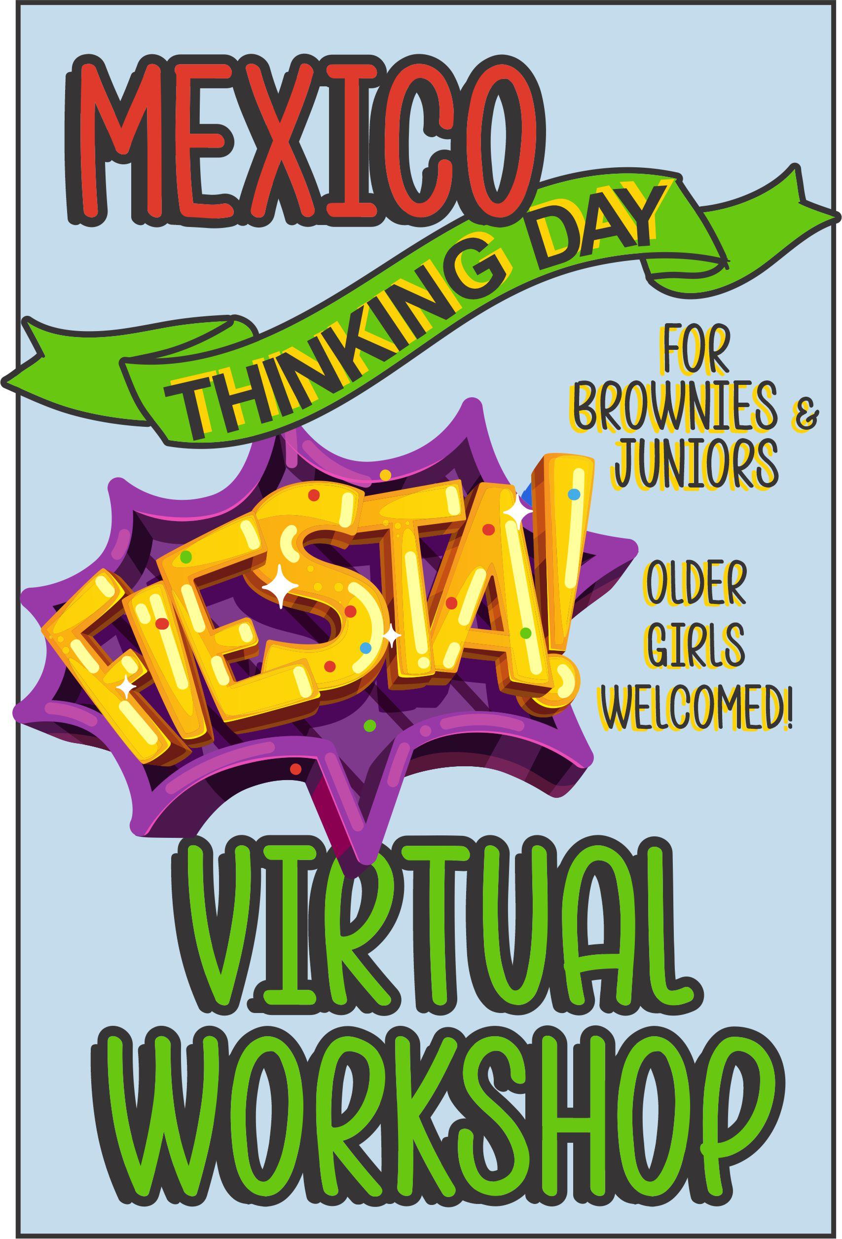 Explore the traditions, food, clothing, and customs of Mexico. The price includes supplies and an embroidered patch! #makingfriends #thinkingday #mexico #virtualthinkingday #onlineclass #customs #mexicothinkingday #juniors #brownies #girlscouts via @gsleader411