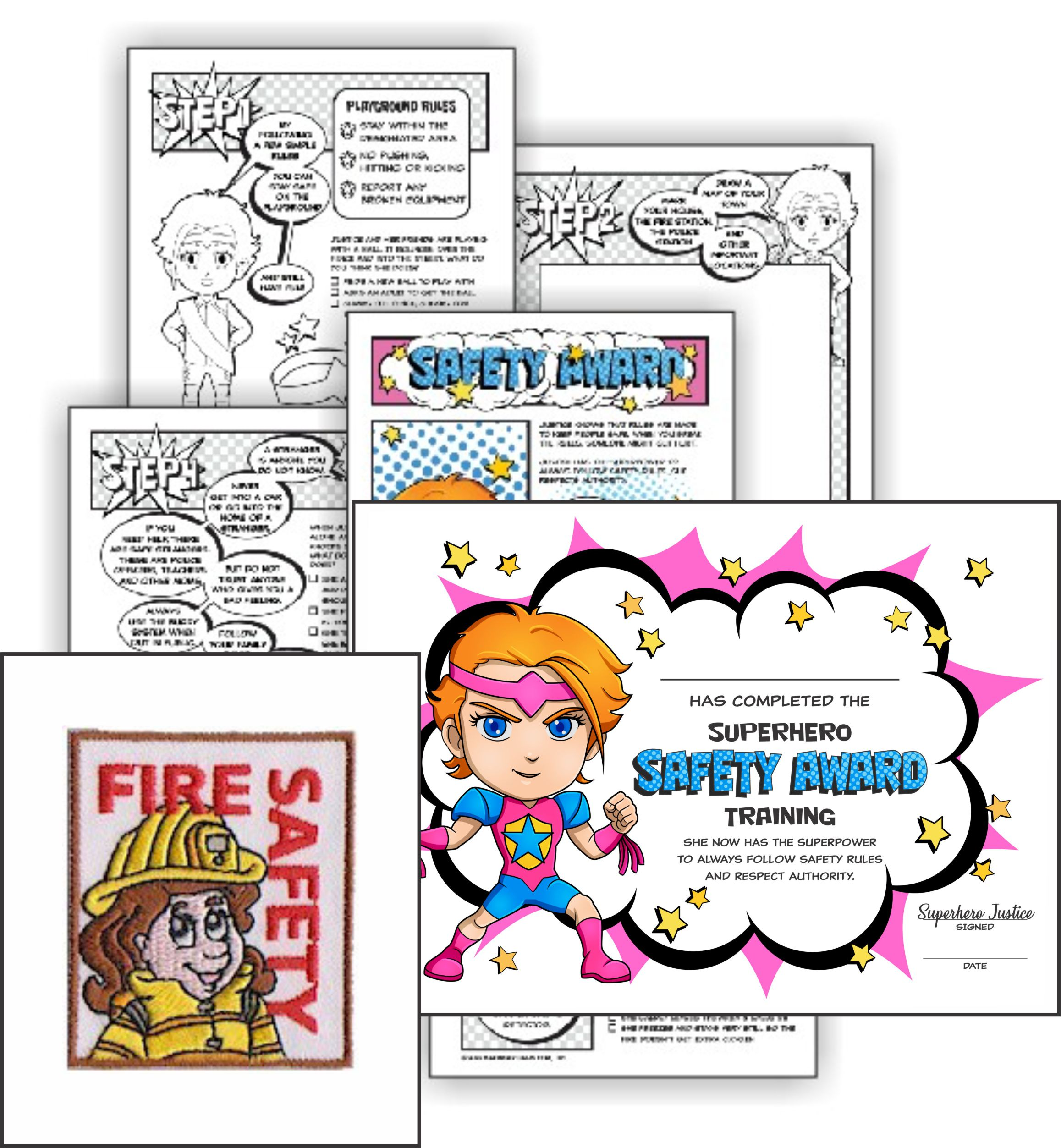 Virtual Girl Scout Workshop Brownie Safety Award