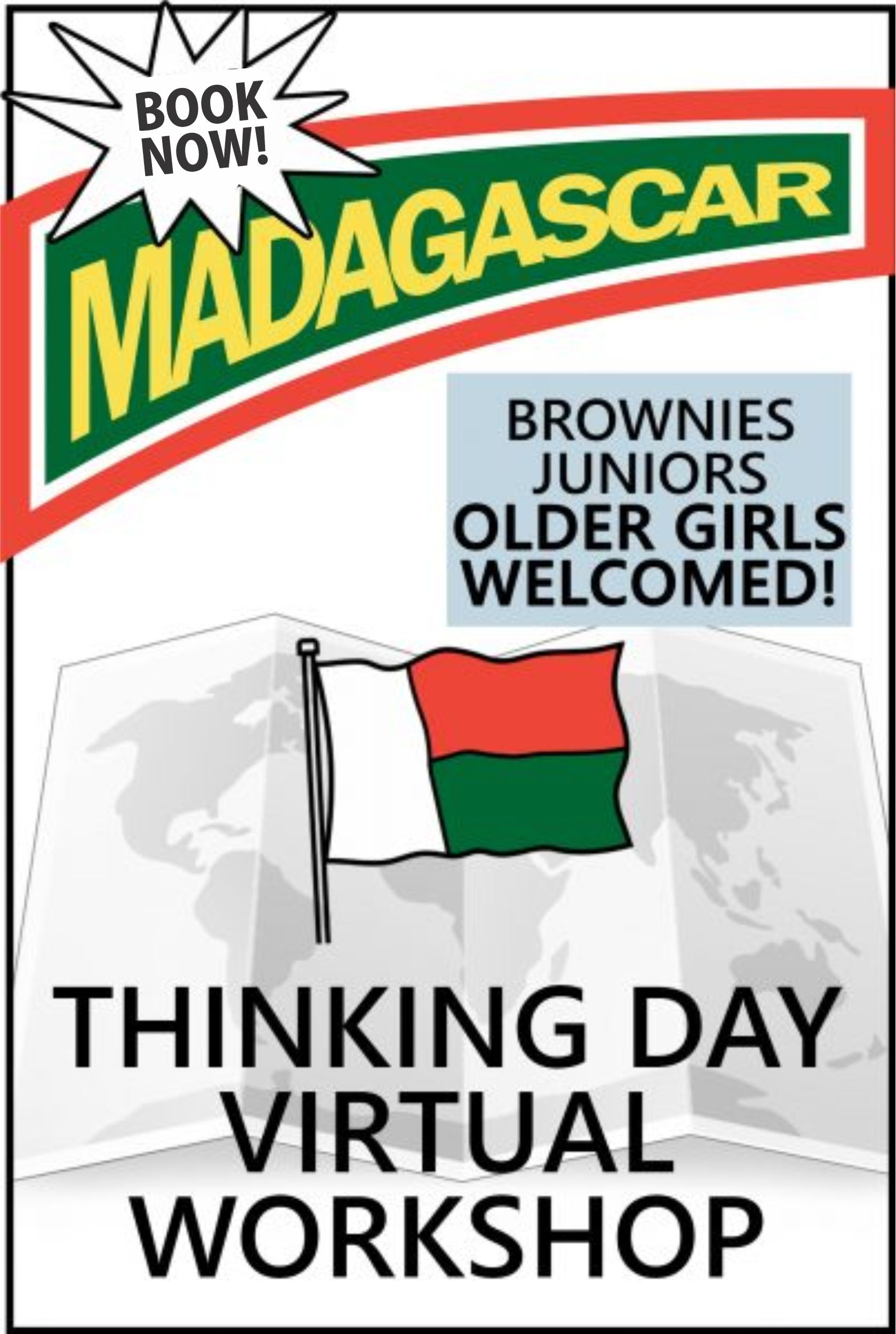 Explore the traditions, food, clothing, and customs of Madagascar. The price includes supplies and an embroidered patch! #makingfriends #thinkingday #madagascar #onlineclass #virtualgirlscouts #virtualthinkingday #juniors #brownies #girlscouts #scouts via @gsleader411