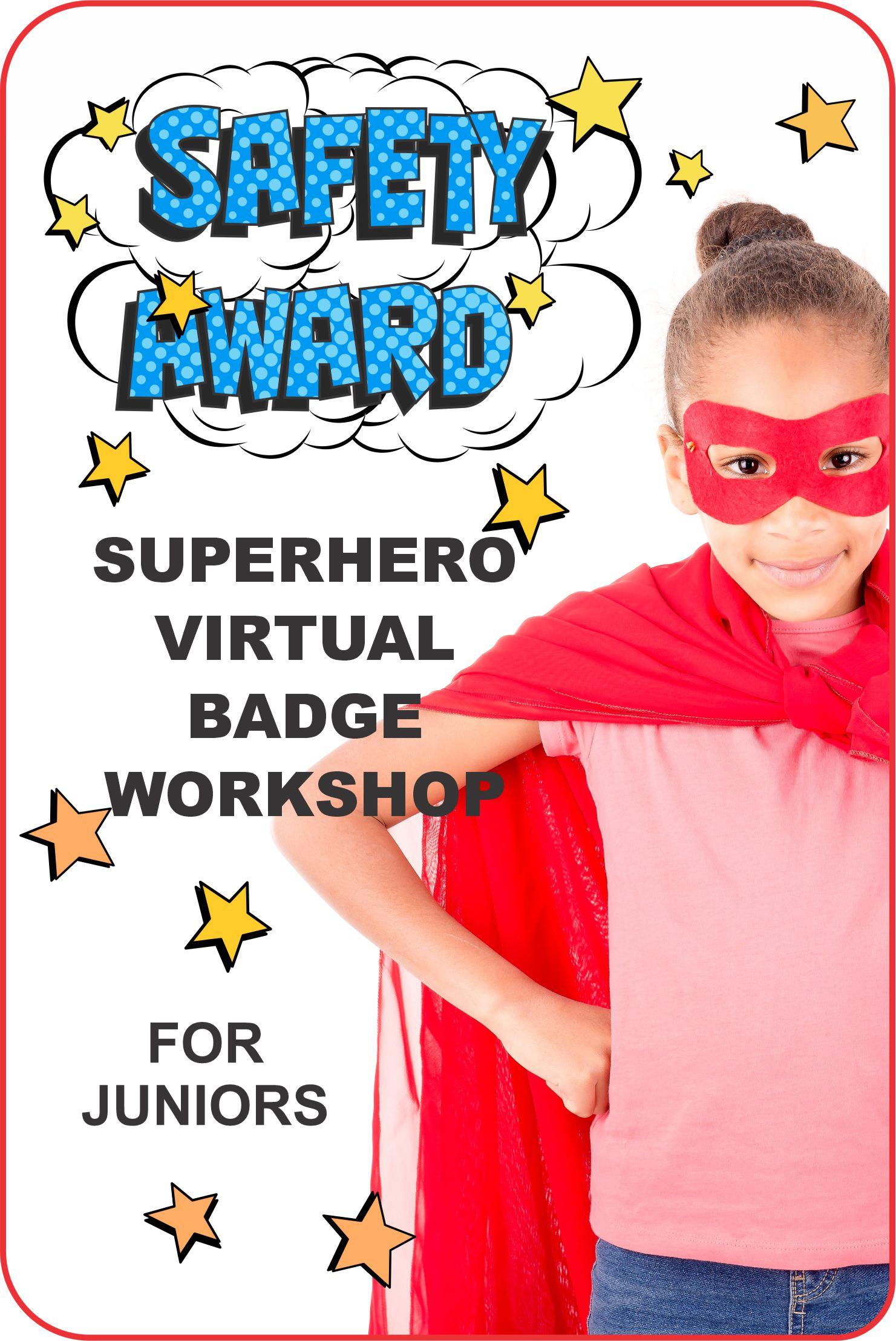 Come dressed like a superhero and join Superheroes Nichole and Justice for our Juniors Safety Award Workshop on Zoom!#makingfriends #virtual #safetyaward #safety #virutalworkshop #onlineclass #girlscouts #juniors #superhero #girlscoutworkshop #funpatch via @gsleader411