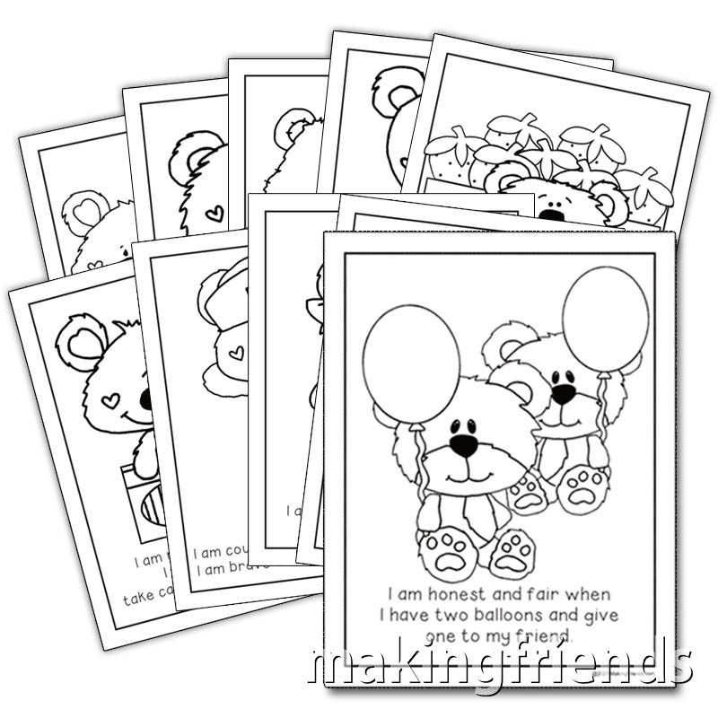 Girl Scout Law Bear Coloring Book via @gsleader411