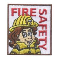 Girl Scout Fire Safety Fun Patch