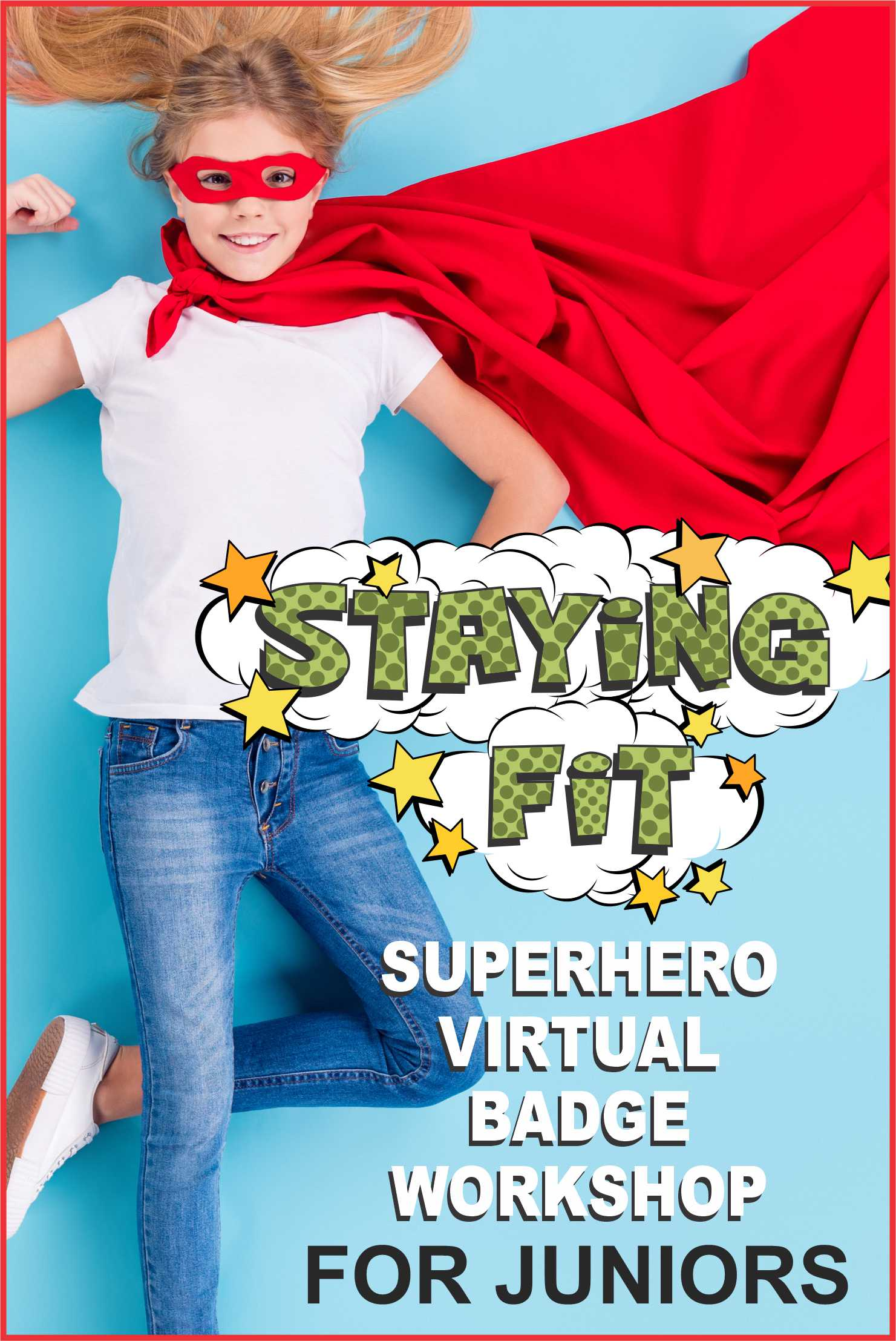 Come dressed like a superhero and join Superheroes Jackie and Freedom for our 1-hour Junior Staying Fit Workshop on Zoom! #makingfriends #stayingfit #gsonline #superhero #virtualworkshop #onlineclass #zoomworkshop #girlscouts #gsworkshop #juniors via @gsleader411