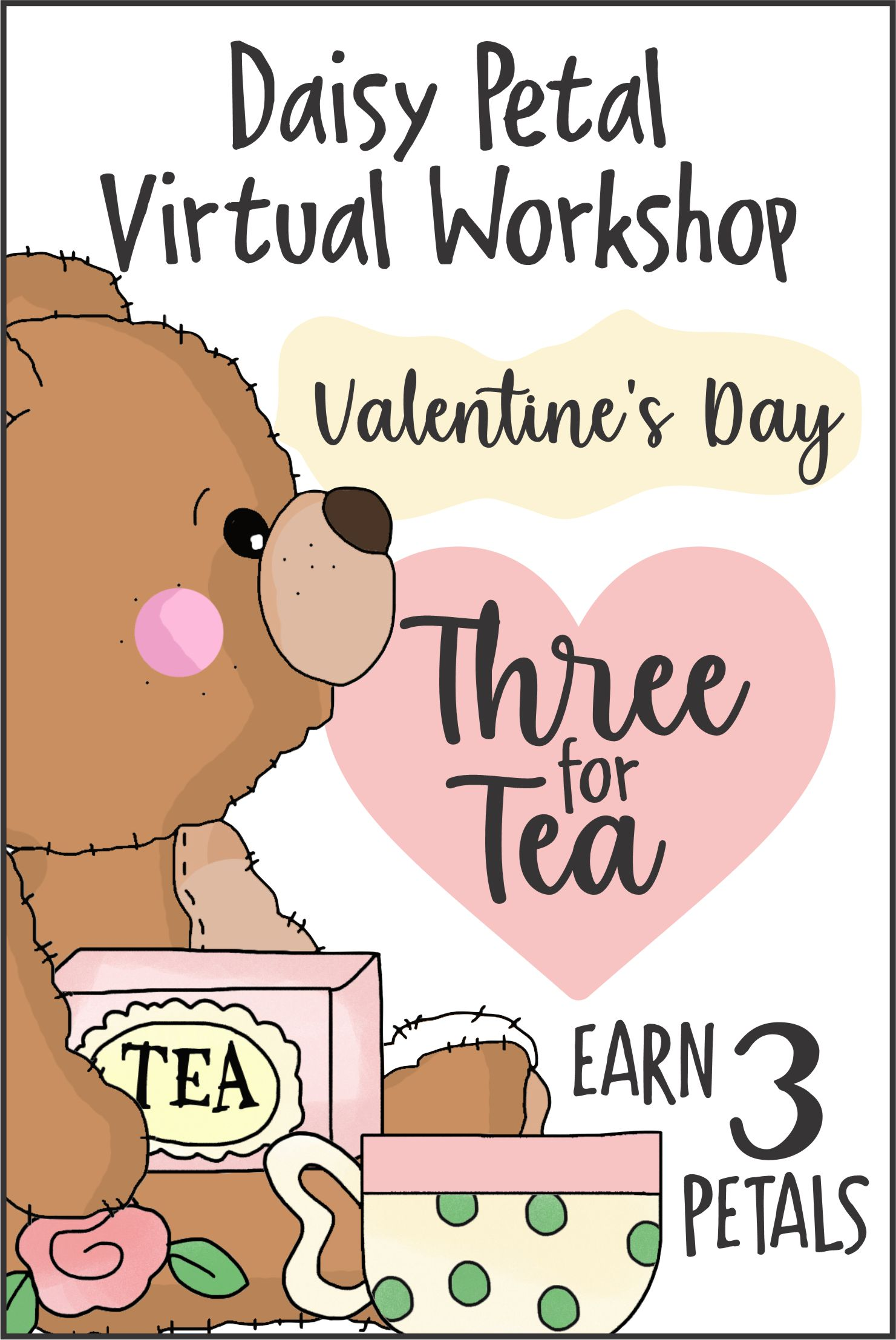 Join us dressed up or in red or pink with your special person and a favorite doll or stuffed animal! Earn 3 Daisy Petals! #makingfriends #teaparty #valentines #virtualvalentines #valentinesteaparty #dolls #tea #party #threefortea #daisypetals #daisies #girlscouts via @gsleader411
