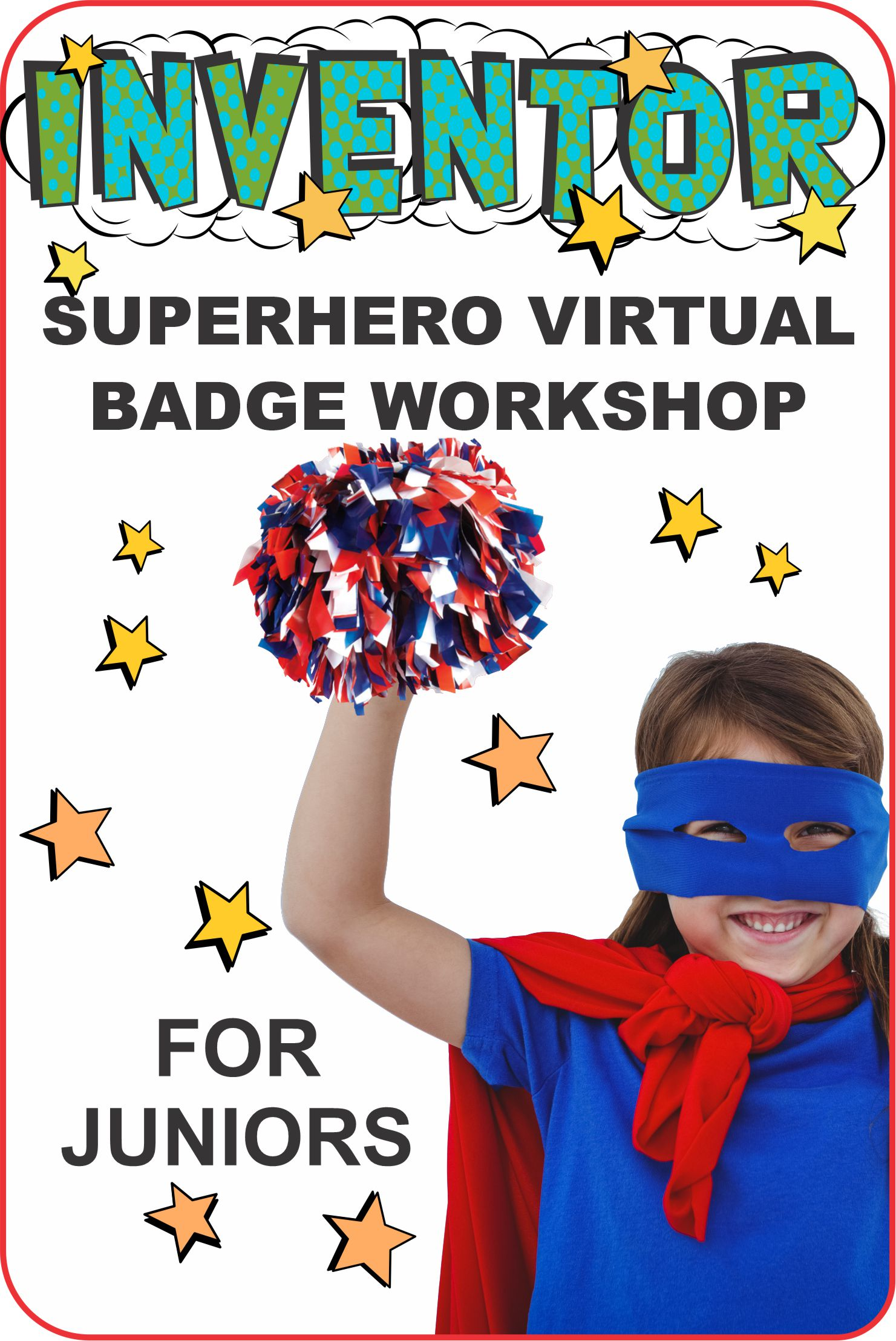 Join Jackie and Superhero Seraphina in this fun inventor workshop! Seraphina is smart she loves to invent new things AND she loves to cheer! #makingfriends #superhero #virtualclass #inventor #inventing #girlscoutsinventor #girlscouts #gs #badges #gsbadges via @gsleader411