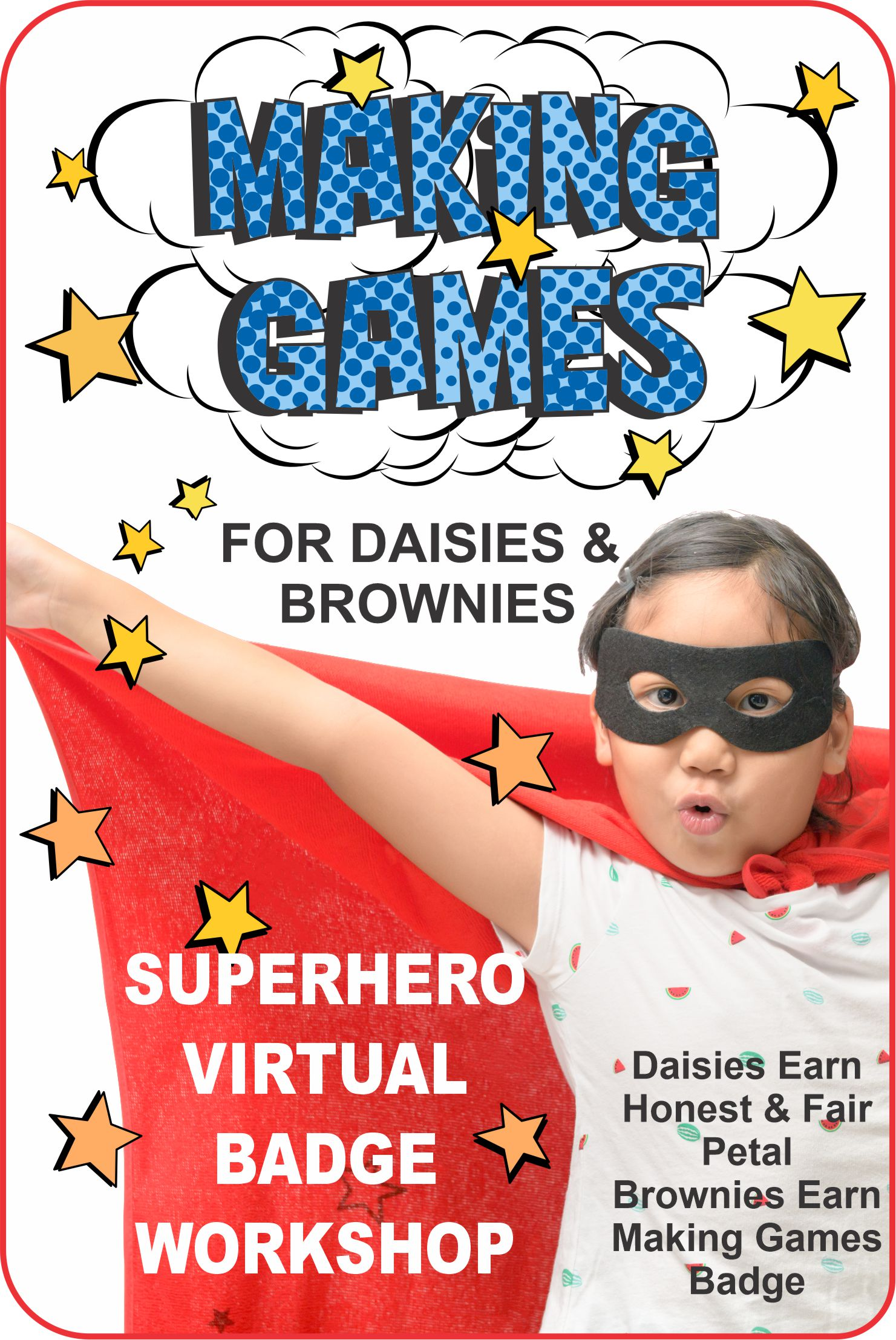 Join us for our 1-hour Making Games Superhero Virtual Workshop and learn about games and ways to make them different! #makingfriends #girlscouts #gsbadge #makinggames #girlscoutsonline #virtualclass #superheros via @gsleader411