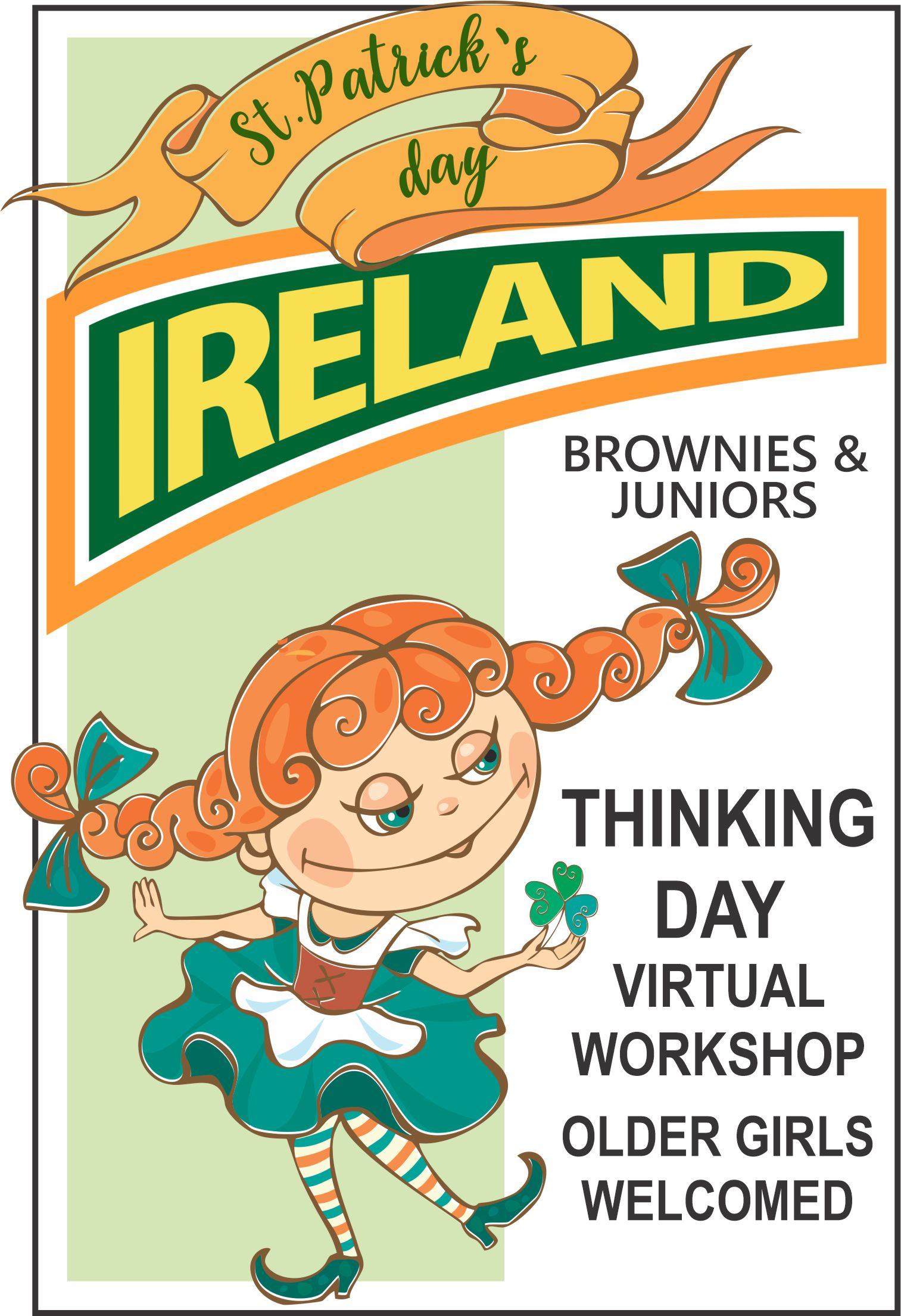 Celebrate Thinking Day and St. Patrick's Day! Learn about Celtic knots, food, traditions, step dancing, and so much more! #makingfriends #ireland #stpatricksday #brownies #daisies #thinkingday #celticknots #traditions #stepdancing #girlscouts #gsfunpatch #funpatches via @gsleader411