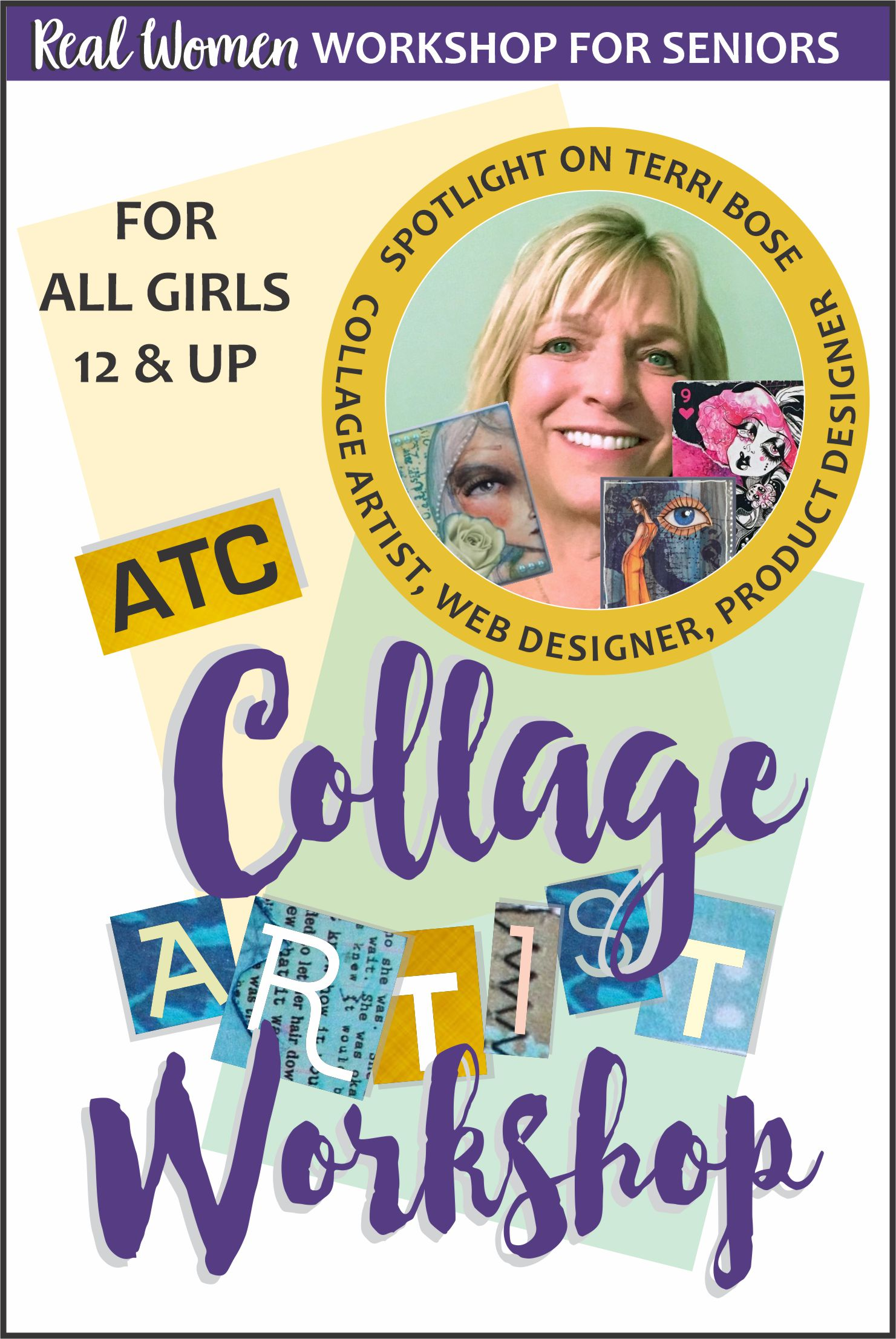 This is a great opportunity for your girls to try something new --Making Artist Trading Cards. Everyone welcomed aged 12 and up! #makingfriends #virtualworkshop #collageartist #artists #girlscouts #girlscoutsworkshop #artisttradingcards #seniorscouts #art #girlscoutart via @gsleader411
