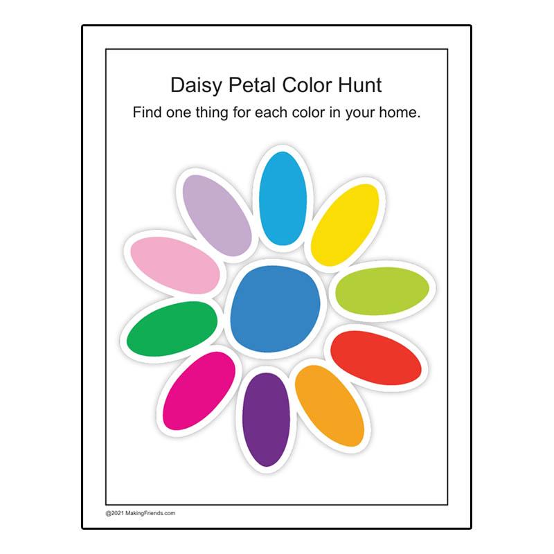 Girl Scout Daisy Petal Color Hunt Download