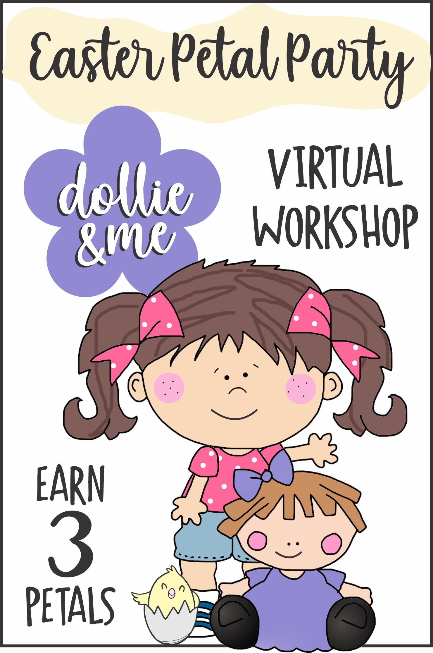 """Bring your favorite dollie and join us for our special Easter """"My Dollie & Me"""" Workshop with crafts, games, dancing, and more! #makingfriends #dollieandme #daisies #daisy #daisypetals #girlscouts #daisyscouts #girlscoutpetals #easter #easterparty #girlscouts via @gsleader411"""