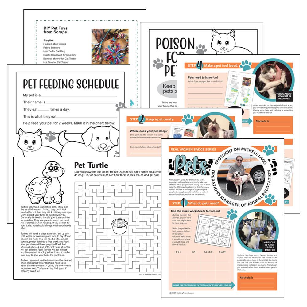 Girl Scout Virtual Pets Badge Download