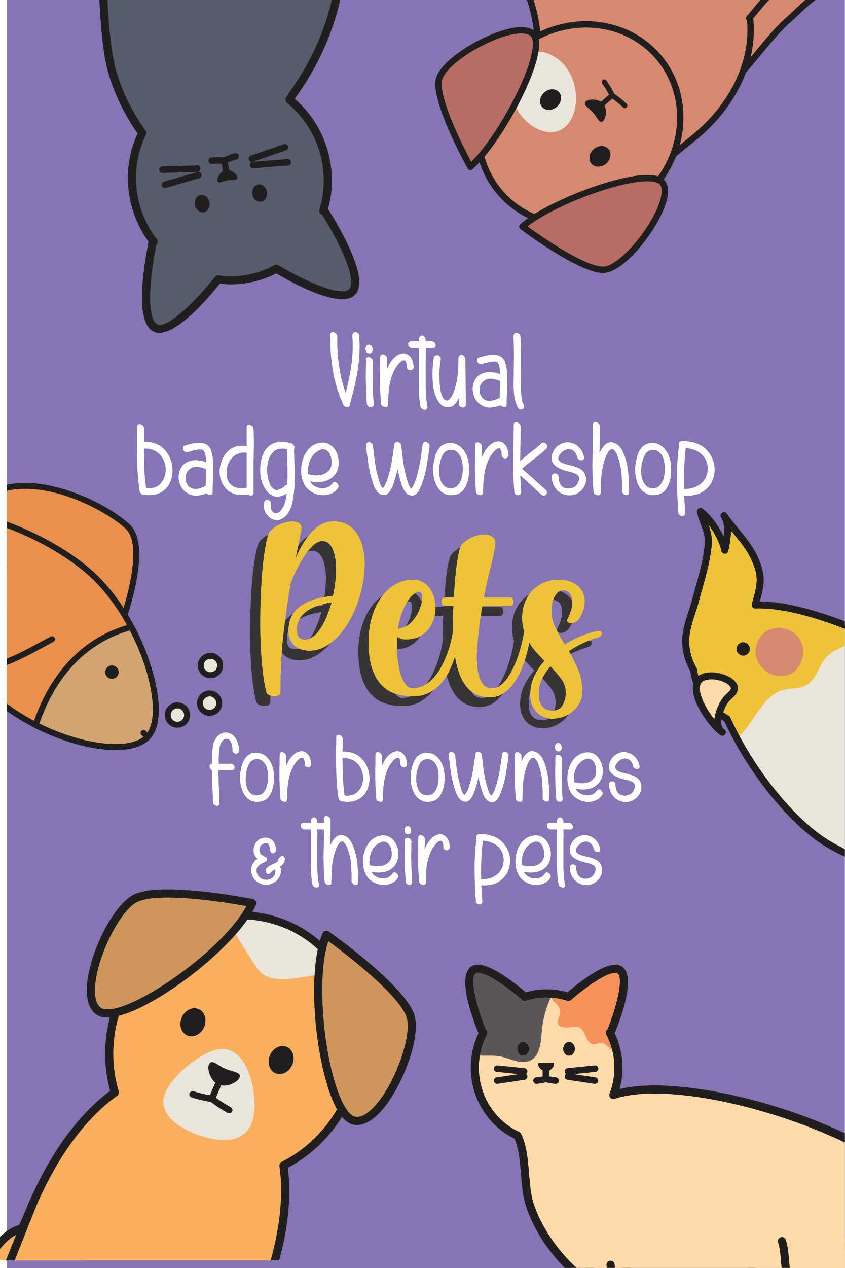 Brownies get to find out what it's like to work for the ASPCA and bring a pet to the meeting! #makingfriends #pets #animals #aspca #bringapet #girlscouts #gsbadges #brownies #gsbrownies #petbadge #browniebadge #funpatch #virtualmeeting #Onlineclass via @gsleader411
