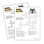 Girl Scout Animal Helper History Crossword