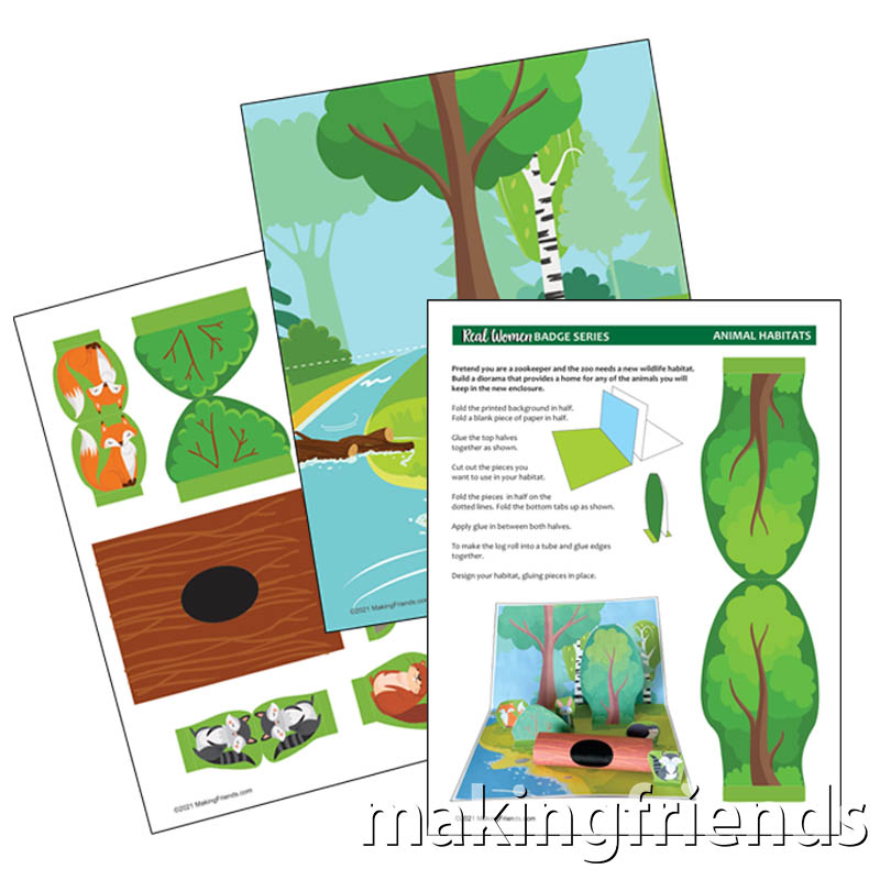 Girl Scout Animal Habitats Woodland Diorama via @gsleader411