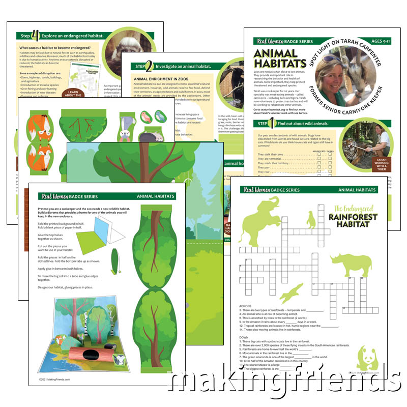 Junior Girl Scout Animal Habitats Download via @gsleader411