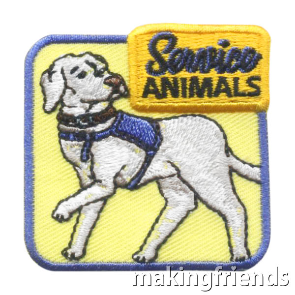 Girl Scout Service Animals Patch via @gsleader411