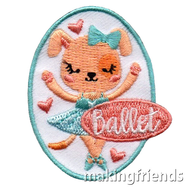 New ballet fun patch coming soon! Only $.69 each with free shipping available! #makingfriends #ballet #funpatch #girlscouts #balletpatch #girlscoutpatches #behealthy #dance #loveofdancing via @gsleader411