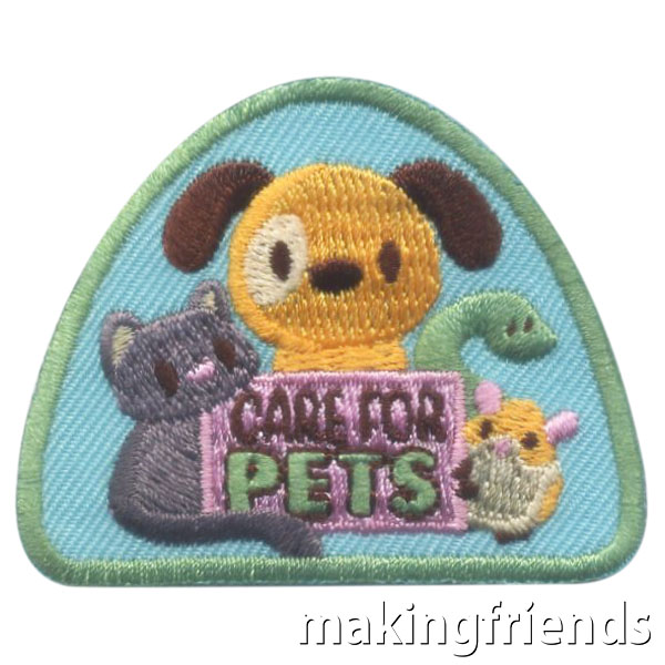Girl Scout Care for Pets Fun Patch via @gsleader411