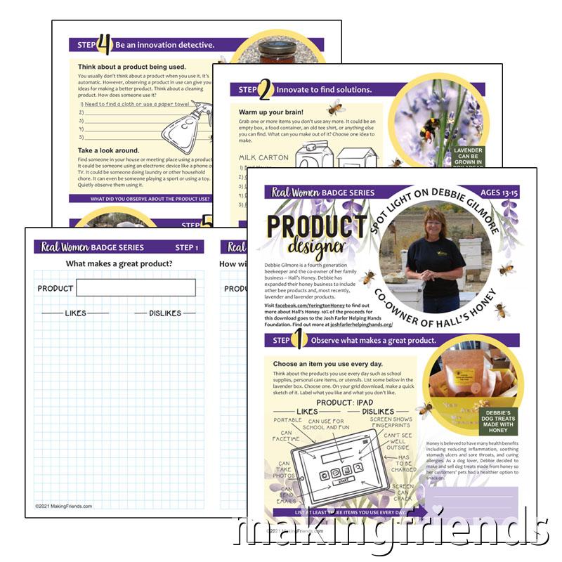 Girl Scout Junior Product Designer Download via @gsleader411