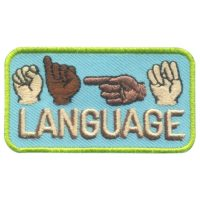 Girl Scout Sign Language Patch