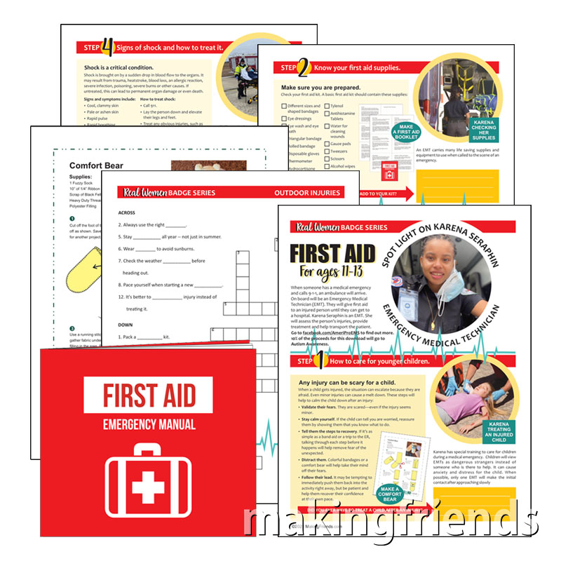 Girl scout Cadette First Aid Download via @gsleader411