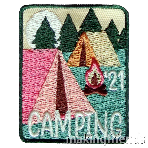 Camping 2021 Patch. Remember this year's camping trip with the Camping 2021 patch from MakingFriends®.com! You'll find plenty of great ideas to make this trip a success on our page Camping and Hiking. via @gsleader411