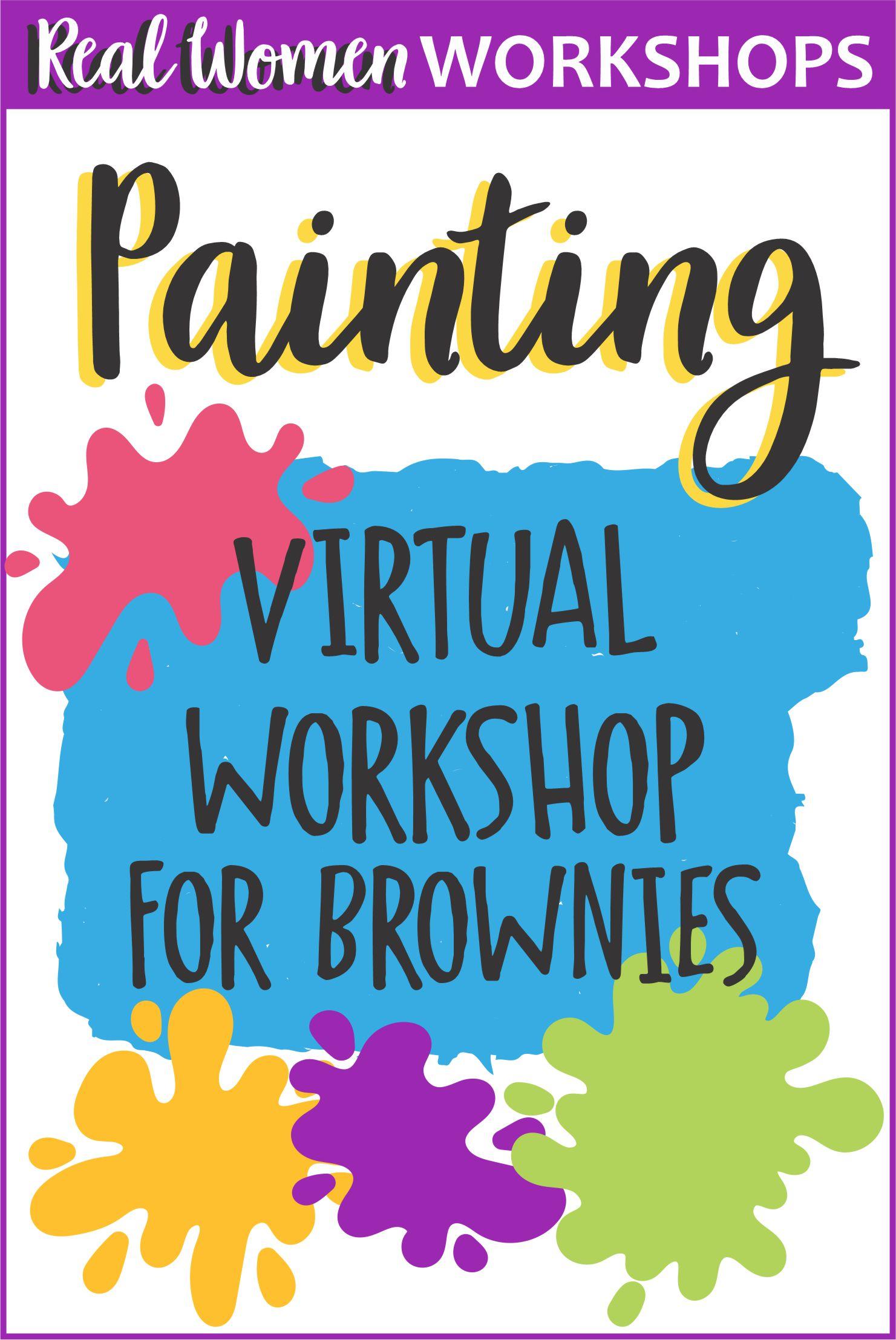 Girl Scout Brownie Painting Workshop via @gsleader411