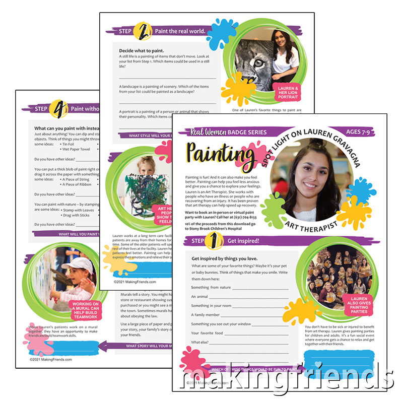 Girl Scout Painting Badge Download for Brownies via @gsleader411
