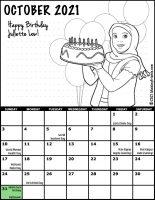 Girl Scout Monthly Calendar October 2021