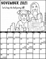 Girl Scout Monthly Calendar November 2021