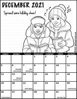 Girl Scout Monthly Calendar December 2021