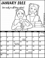 Girl Scout Monthly Calendar January 2022