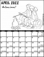 Girl Scout Monthly Calendar April 2022