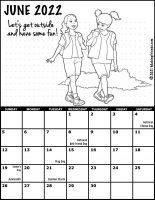 Girl Scout Monthly Calendar June 2022